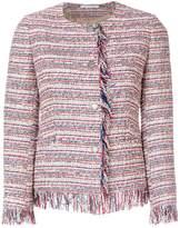 Tagliatore frayed boucle jacket
