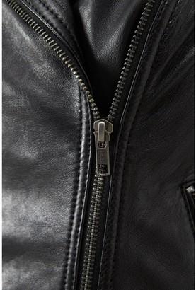Very Eco-Friendly Leather Biker Jacket - Black