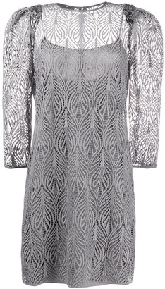 Alberta Ferretti Long Sleeve Lace Dress