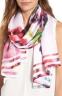 womens ted baker london esila expressive pansy silk scarf