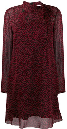 RED Valentino animal print shift dress