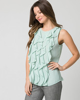 Le Château Twill & Jersey Ruffle Top