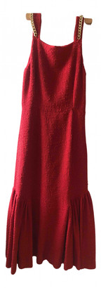 Mother of Pearl Red Cotton Dresses