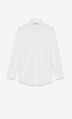 Saint Laurent Classic Shirts Shirt In White Silk Crepe Shell 10