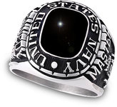 Zales Men's Siladium® Apollo Onyx Military Ring by ArtCarved®