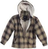 B-One Big Boys Squares Sherpa Lining Detachable Hood Flannel Jacket
