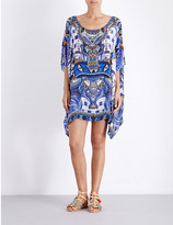 Camilla Rhythm and blue short round neck kaftan