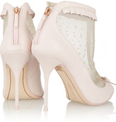 Webster Sophia Felice point d'esprit and leather ankle boots