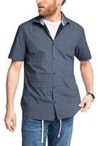 Esprit Men's 50S Aop Poplin Regular Fit Short Sleeve Casual Shirt