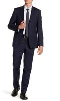 Simon Spurr Blue Plaid Two Button Notch Lapel Suit
