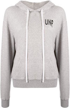 Unravel Project Logo-Print Long-Sleeved Hoodie
