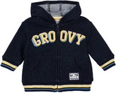 Petit Lem Groovy Hooded Knit Sweatshirt, Navy, Size 12-24M