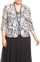 Alex Evenings Embroidered Twinset