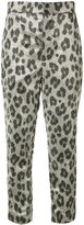Haider Ackermann leopard print cropped trousers
