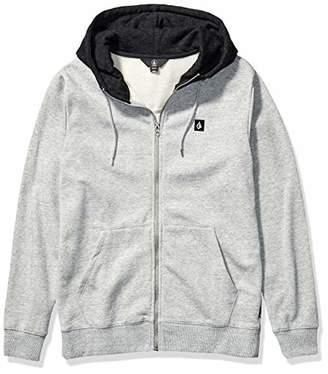 Volcom Men's Single Stone Zip Up Hooded Sweatshirt