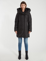 Soia & Kyo Camelia Brushed Leather Trim Down Coat