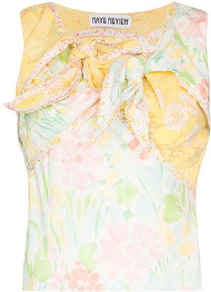 Rave Review Nora knotted floral-print top