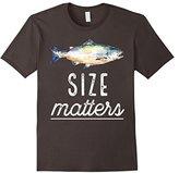 Men's Fishing T-Shirts Size Matters Dark Large