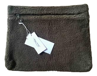 American Vintage Khaki Fur Purses, wallets & cases