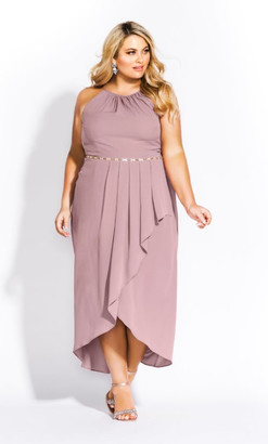 City Chic Lovestruck Maxi Dress - blush