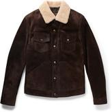 Tom Ford - Slim-fit Shearling-trimmed Suede Jacket