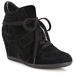 Ash Women's Bowie Suede High-Top Wedge Sneakers