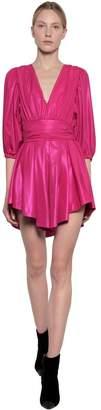 MSGM Techno Taffeta Mini Dress