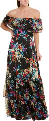 Shoshanna Silk-Trim Gown
