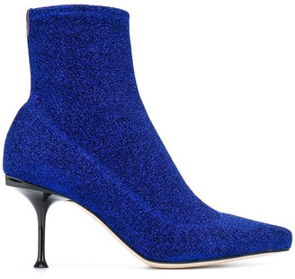 Sergio Rossi Pointed High Heel Sock Boots