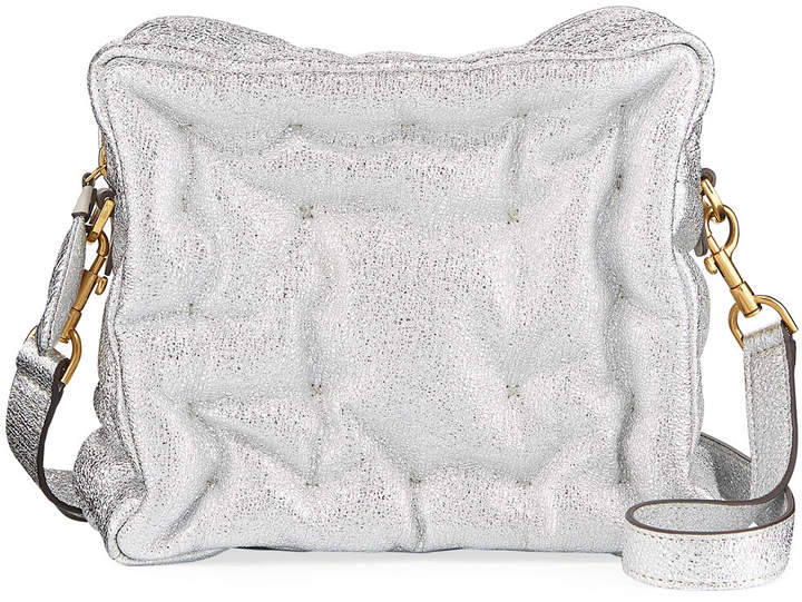 Anya Hindmarch Chubby Cube Metallic Crossbody Bag