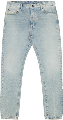 Palm Angels Back Logo Jeans From The Pre F/w2020-21 Collection In Washed Blue