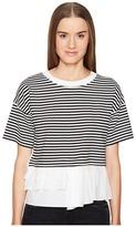 Moschino Striped Top w/ Bottom Ruffle Women's Clothing