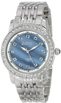 August Steiner Women's AS8045SS Diamond and Crystal Swiss Quartz Bracelet Watch