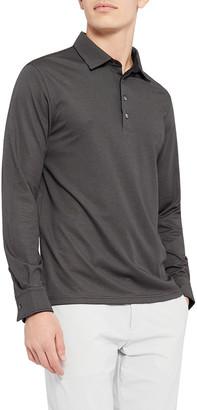 Theory Men's Interlock Masser Long-Sleeve Polo Shirt