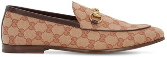 Gucci 10mm Canvas Gg All Over Loafers