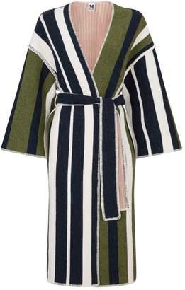 M Missoni Knitted Wool Stripe Tie Coat