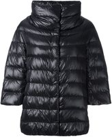 Herno three-quarter sleeve puffer jacket - women - Cotton/Feather Down/Polyamide/Acetate - 38