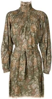 À La Garçonne Funnel Neck Wool Dress