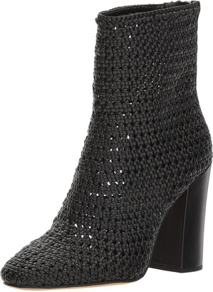Dolce Vita Women's Scotch Woven Ankle Boots with Block Heel