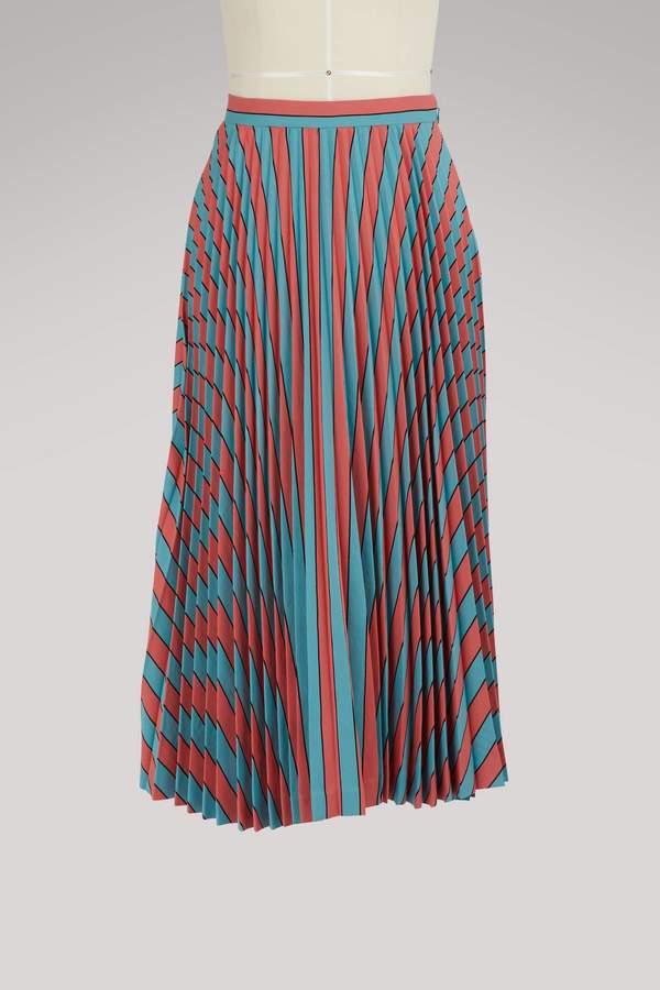 Maison Margiela Pleated striped skirt