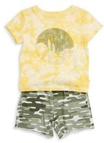 Splendid Baby Boy's Cactus Graphic Tee and Camouflage Shorts Set
