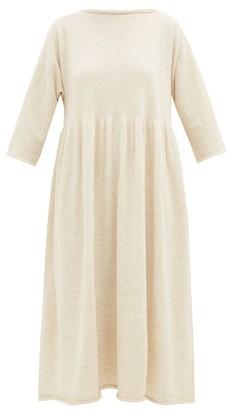 LAUREN MANOOGIAN Raw-edged Alpaca-blend Dress - Womens - Ivory
