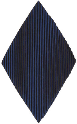 Homme Plissé Issey Miyake Navy and Black Pleats Chief 1 Pocket Square