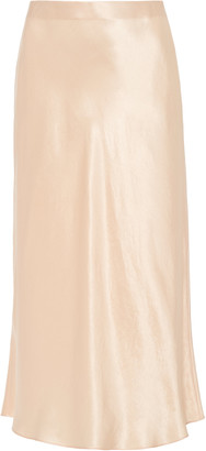 Vince High-Rise Satin Slip Skirt