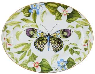 Mackenzie Childs Mackenzie-Childs Thistle And Bee Serving Platter (40Cm)