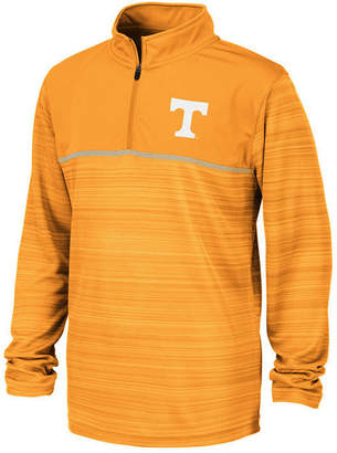 Colosseum Big Boys Tennessee Volunteers Striped Mesh Quarter-Zip Pullover