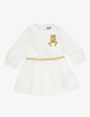 Moschino Glitter Bear stretch-cotton dress 6-36 months