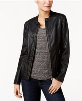 Style&Co. Style & Co Faux-Leather Jacket, Only at Macy's