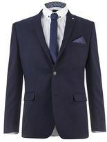 Burton Mens Lambretta Navy Spot Slim Fit Suit Jacket*