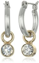 "lonna & lilly Classics"" Gold-Tone/Crystal Stone Drop Earrings"
